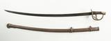 Unmarked Civil War Era Calvary Sword W/ Scabbard