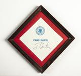 Camp David Napkin with Jimmy Carter's Signature