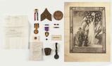 WWI Purple Heart, Original Letter & Shrapnel
