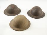 Three WWI Doughboy Helmets