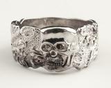 SS Totenkopf (Death's Head) Silver Ring
