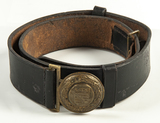 Nazi Fire Defense Officer's Belt and Buckle