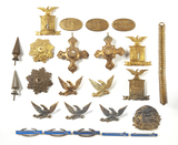 24 US Military Insignia, 4 Sterling Silver