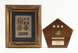 Framed WWI Medals & General's Plaque