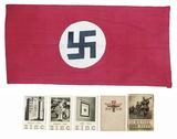 NSDAP Flag, 2 Propaganda Books & More