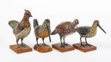 4 Pcs Carl Forslund Carved Wooden Folk Art Birds