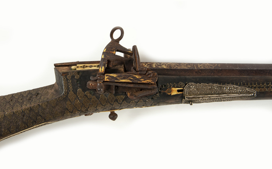 Turkish/Mid- Eastern Decorated Flint Rifle