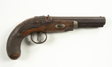 London Back Action Percussion Pistol, Cal. 45.