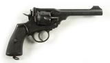Webley Mark VI Cal. 455 British Military Revolver