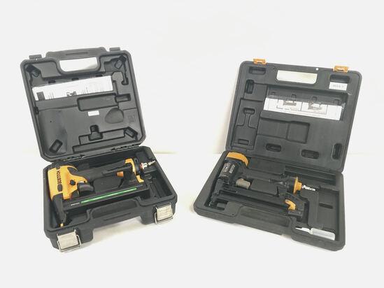 2 Bostitch Pneumatic Brad Nailer Sets