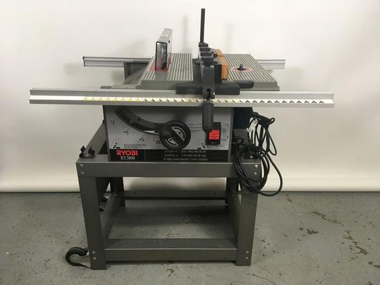 Ryobi BT3000 Table Saw on Steel Base