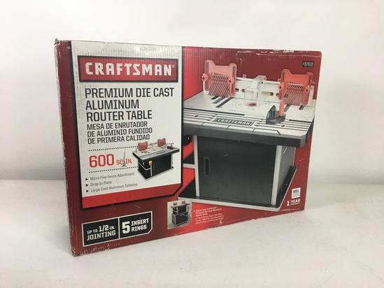 Craftsman Die-Cast Premium Aluminum Router Table