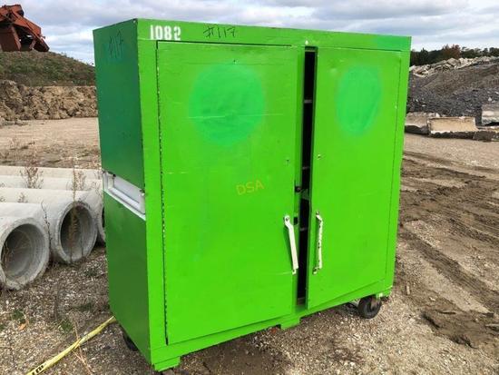 5' x 5' 2 Door Steel Shelving Unit on Casters,