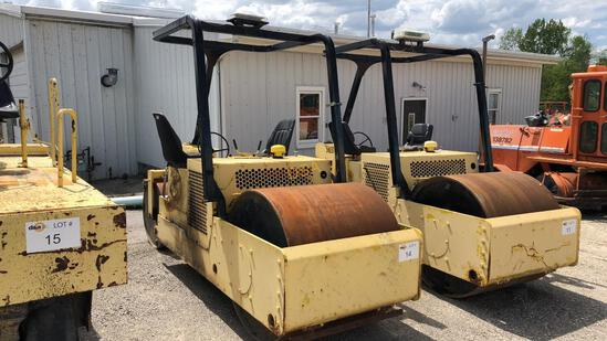 1992 Rosco 460 Double Smooth Drum Roller,