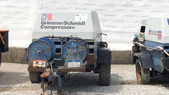 1996 Grimmer Schimidt 185-DR Air Compressor,