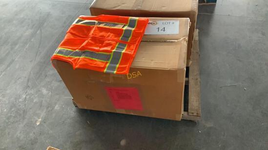 Box of 82 - Unused Contractors Safety Vests,