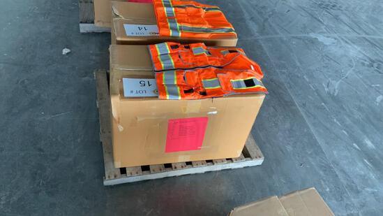 Box of 66 - Unused Surveyors Safety Vests,