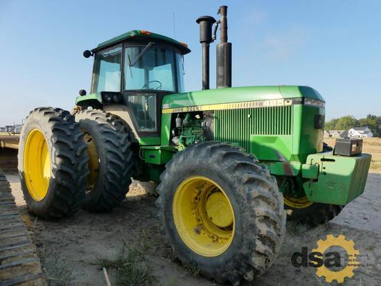 John Deere 4850 Ag Tractor, S/N RW4850P013099, Cab, 3 Point Hitch, 3 Remotes, PTO, Dual Rear Tires