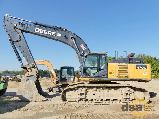 2015 Deere 470GLC Excavator, S/N 1FF470GXCFE471151, Meter Reads 5,288 Hours, Cab, Heat, Air Conditio