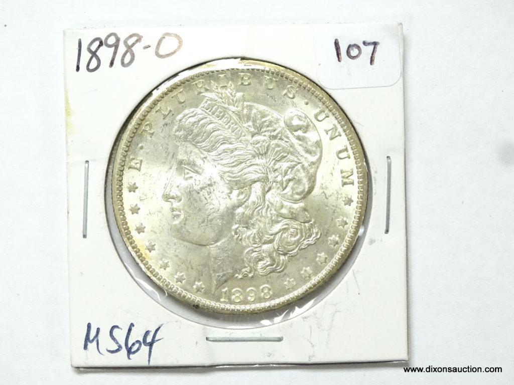 1898-O MS64 MORGAN SILVER DOLLAR.