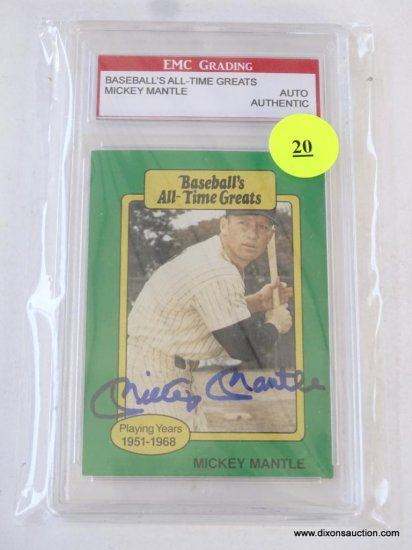 Sc 1987 Hygrade Mickey Mantle Autographed All Time Great