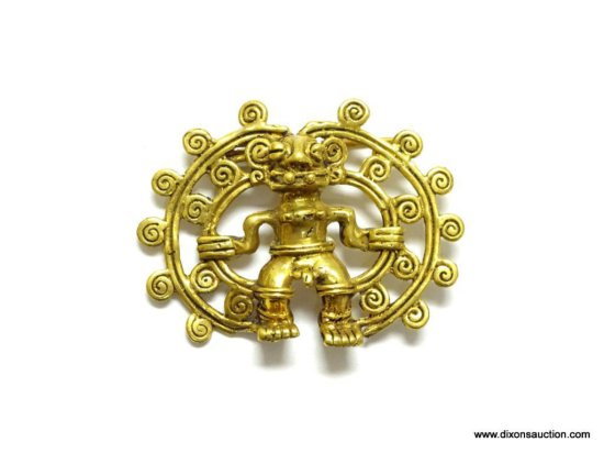 "Unique Tribal Fertility God Pin / Brooch. Measures 1 7/8"" long. In VGC."