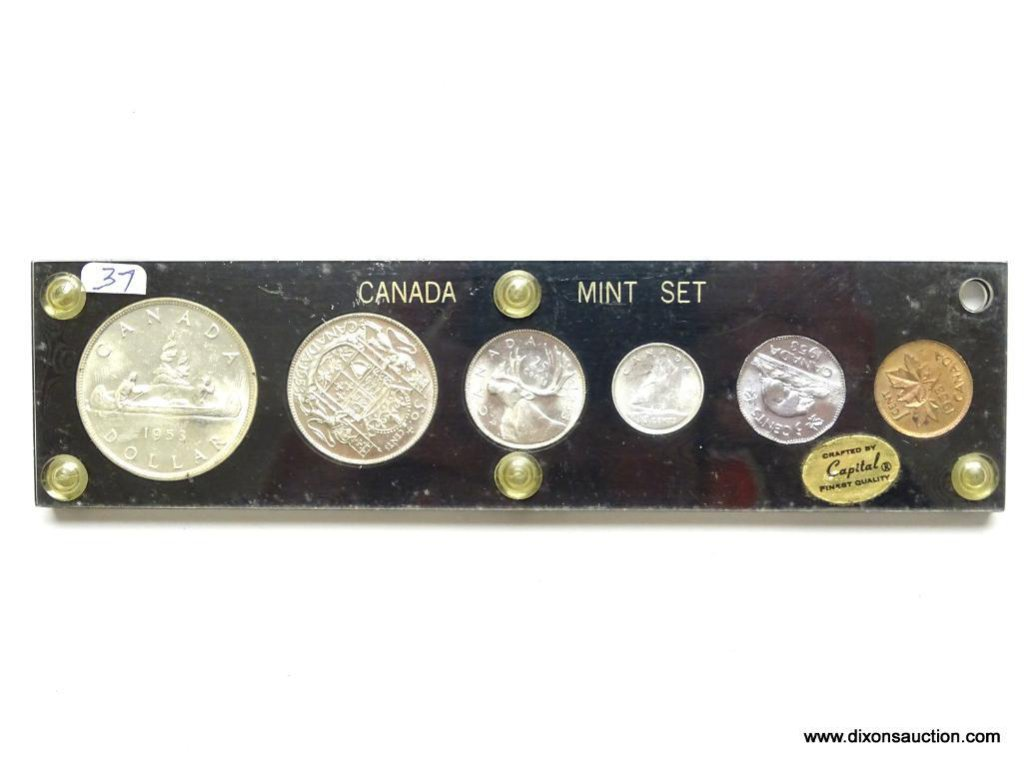 1953 - CANADIAN SILVER MINT SET BOOKS AT $650.00