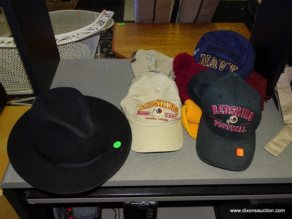 Lot  (SEC 5) LOT OF HATS  3 REDSKINS HATS (2 ARE BALL CAPS). 1 NAVY ... 5e64b3bc9a5