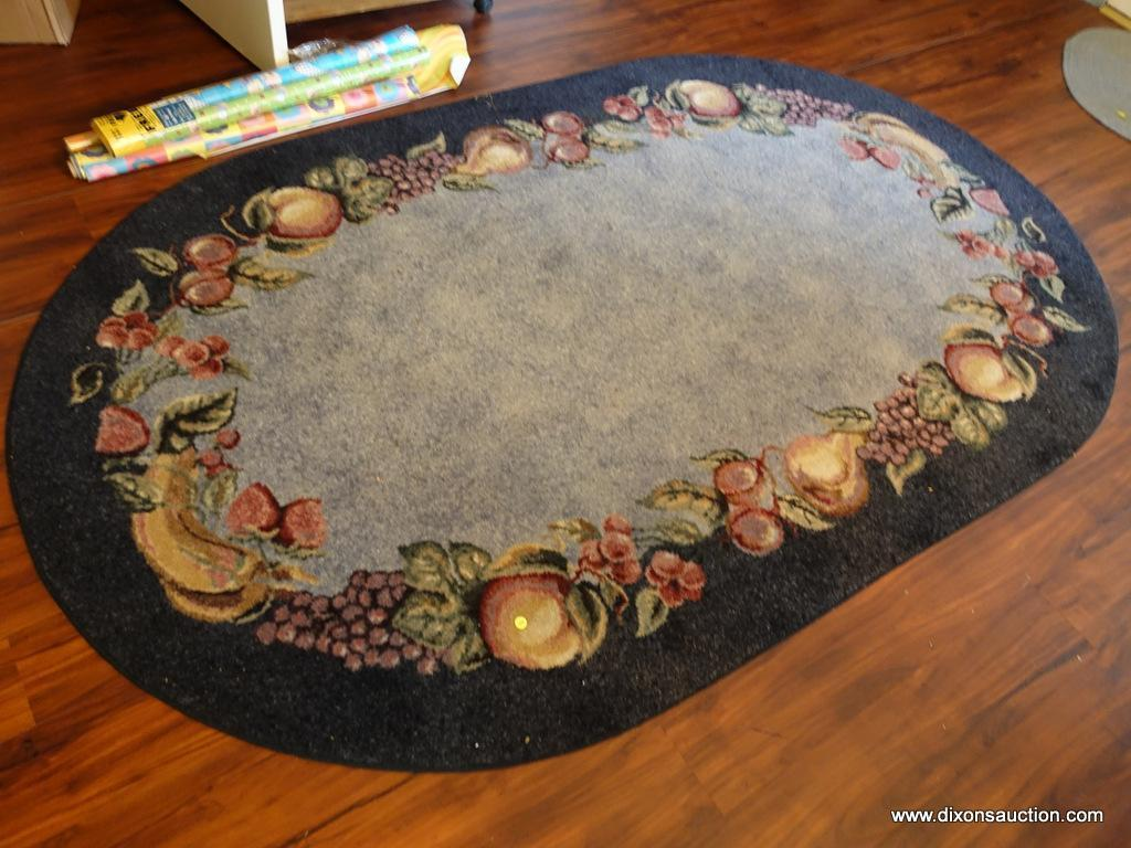 Dr Oval Shaped Area Rug With Fruit