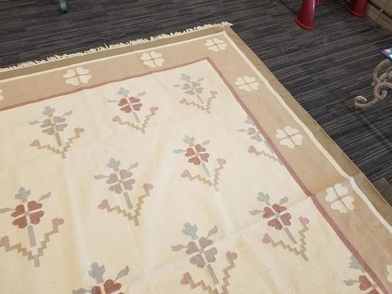 Woven Pastel Floral Area Rug Auctions Online Proxibid