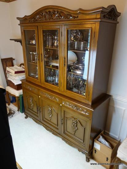 Fabulous Dr Hand Carved Narra Wood Hutch Buffet Estate Personal Download Free Architecture Designs Scobabritishbridgeorg