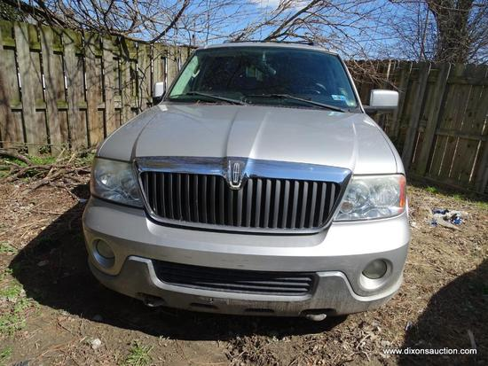 2003 SILVER LINCOLN NAVIGATOR LUXURY; VIN 5LMFU28R83LJ32724.THIS VEHICLE WAS ABANDONED AT NATIONAL