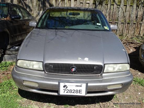 1996 SILVER BUICK REGAL CUSTOM; VIN 2G4WB52K1T1497838. 3.8 LITER ENGINE. 151,314 MILES. THIS VEHICLE