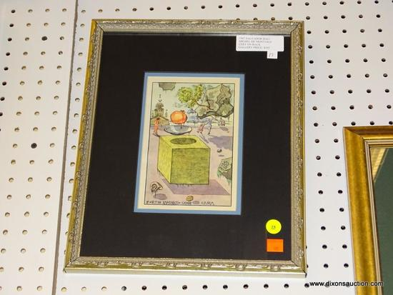 """(WALL1) """"MICHEL DE MONTAIGE"""" BY SALVADOR DALI WITH COA; THIS PRINT HAS A CERTIFICATE OF AUTHENTICITY"""