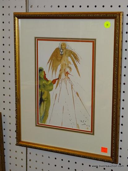 """(WALL1) """"JERUSALEM BIBLE"""" BY SALVADOR DALI WITH COA; THIS PRINT HAS A CERTIFICATE OF AUTHENTICITY"""