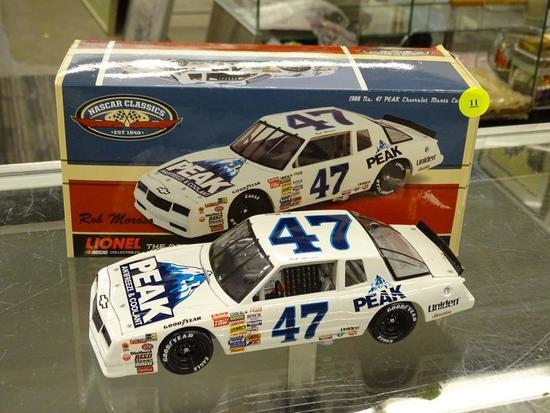 (R2) NASCAR 1:24 SCALE DIECAST COLLECTIBLE STOCK CAR; #47 PEAK ANTIFREEZE AND COOLANT 1988 MONTE