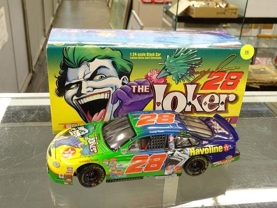 (R3) NASCAR 50TH ANNIVERSARY 1:24 DIECAST COLLECTIBLE STOCK CAR; THE JOKER #28 KENNY IRWIN 1998