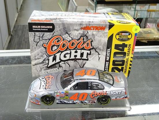 (R4) NASCAR 1:24 DIECAST COLLECTIBLE MODEL STOCK CAR; STERLING MARLIN #40 COORS LIGHT 2004 DODGE