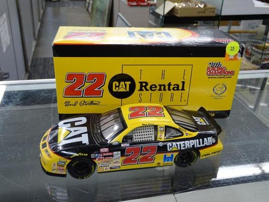 (R1) NASCAR 1:24 SCALE DIECAST COLLECTIBLE MODEL STOCK CAR; #22 CATERPILLAR PONTIAC DRIVEN BY WARD
