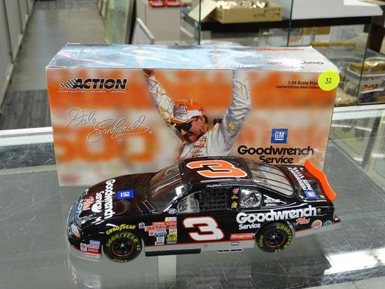 (R2) NASCAR 1:24 SCALE DIECAST COLLECTIBLE MODEL STOCK CAR; #3 DALE EARNHARDT BM GOODWRENCH SERVICE