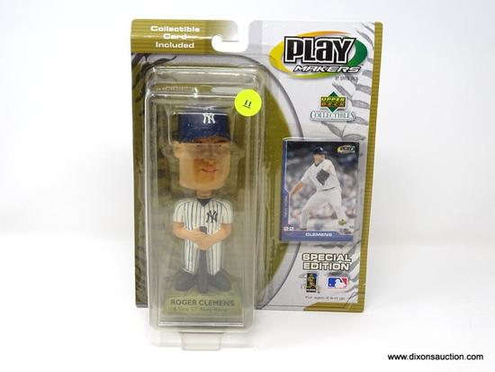 ROGER CLEMMENS BOBBLE HEAD. NEW IN PACKAGE. 8 IN X 3.5 IN X 10 IN.