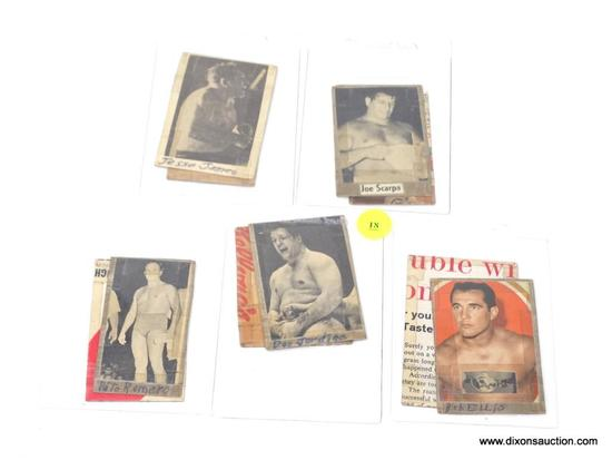 1950'S-1970'S WRESTLING CARDS. PHOTO LOT OF 10.