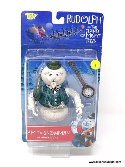 VINTAGE RUDOLPH ISLAND OF MISFIT TOYS ACTION FIGURE. NEW IN PACKAGE. MEASURES 7 IN X 3 IN X 12 IN.
