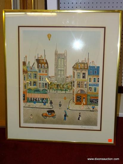 PARIS: CHEZ PYGMALION EUGENE VALENTIN LATOUR; FRENCH 1985. LITHOGRAPH. DOUBLE MATTED IN BROWN AND