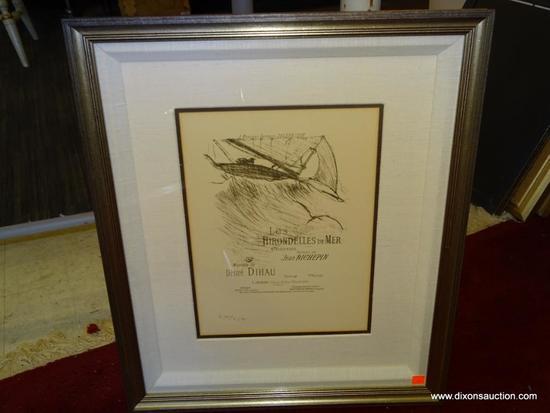 LES HIRONDELLES DE MER (THE SEA SWALLOWS) HENRI DE TOULOUSE-LAUTREC; LITHOGRAPH. FRENCH 1895-96.