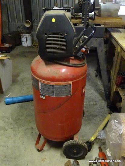 (GAR) AIR COMPRESSOR; CRAFTSMAN UPRIGHT 33 GAL. AIR COMPRESSOR- MODEL-919.167320, 150 PSI- 50 IN