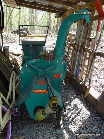 (SHED) CHIPPER; WOODMAXX CHIPPER WITH 3 PT HITCH AND PTO SHAFT, NEW SELLS FOR APPROX. $3,000