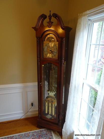 (DR) HOWARD MILLER ROCHESTER GRANDFATHER CLOCK; MODEL #610-793, SERIAL #F0002410064. THIS STUNNING