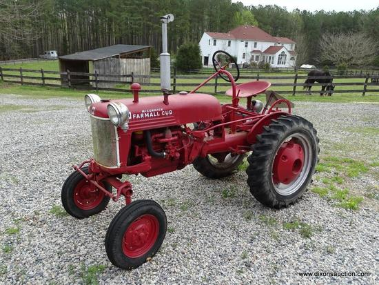 (OUT) 1942 MCCORMICK FARMALL CUB; THIS RED FULLY RESTORED TRACTOR. IT WAS FULLY RESTORED BY THE
