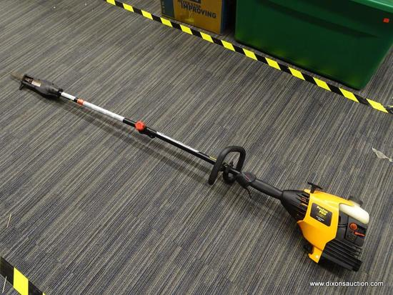 WEED TRIMMER; POULAN PRO GAS POWERED WEED EATER WITH REMOVABLE TREE PRUNER ATTACHMENT. HAS GOOD